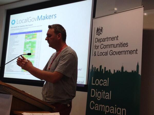 Phil from @localgovdigital outlines all great work they're doing! Love guide on how to share on GitHub #LocalDigital http://t.co/MMl3v4TpiY