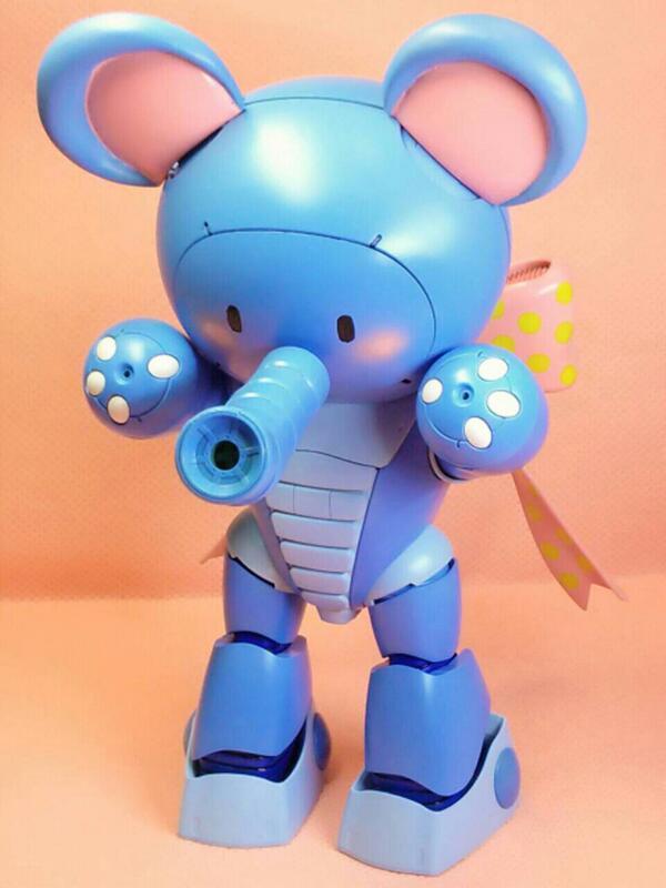 【静岡ホビーショーにお出かけした子シリーズ】ぱおっがいさん 神田が初めてちゃんと改造、塗装まで仕上げたガンプラです。何でゾウかというと、ゾウが熱狂的に好きだからです(≧∀≦) #ガンプラ #gunpla