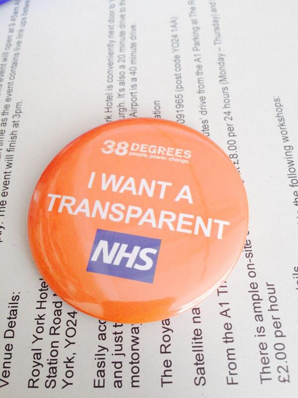 Looking forward to @NHSEngland #nhsopenhouse on Tuesday in #York - I'll be with @38_degrees calling for transparency http://t.co/20LyVOtoH3