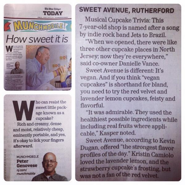 Happy to be featured in today's Star Ledger! Thanks @NJ_Munchmobile! #vegan #cupcakes http://t.co/TRy9069wto http://t.co/tpN1HFnY7r