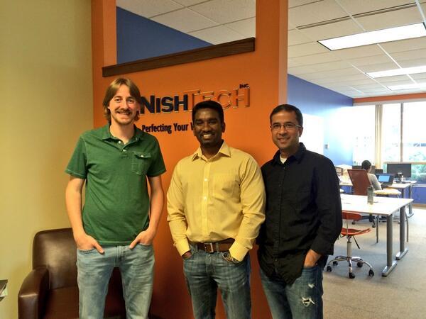 Nick, Suresh and me