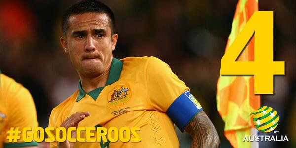 36'  @Tim_Cahill has now scored at 3 World Cups! CHI 2 AUS 1. LIVE NOW: http://t.co/xbyVfOpoPp  #CHIAUS #GoSocceroos http://t.co/stnPXVfqHy