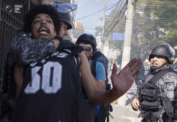 Brazil  2014: World Cup Protests  See more : http://t.co/nChlAlnHzu http://t.co/RTvuKFF0ER