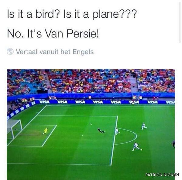 Is it a bird? Is it a plane? No, it's #vanpersie http://t.co/QDpevH8mar