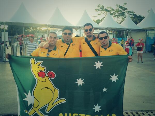 Our fans here in Cuiaba are ready. Retweet if you are back home. #CHIAUS #GoSocceroos #WorldCup http://t.co/msz8OO54O1