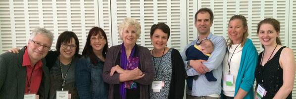 #SciWriSum14 organizing cmte http://t.co/cAirYE291p pictured w/keynote Caryl Rivers (4th frm left) http://t.co/LS4RLMWzOm