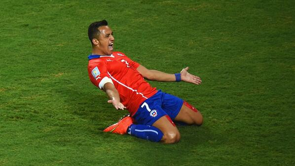 Chiles Alexis Sanchez is being fought over by Arsenal, Liverpool & Juventus. Arsene Wenger meets agent [Sky Italia]