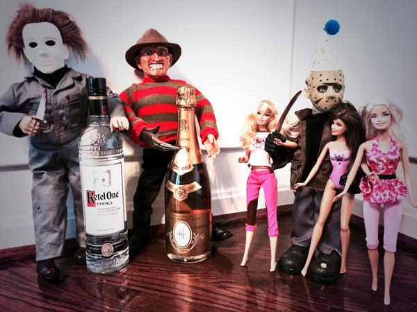 """""""What's all that noise down there?Oh....well @JasonLVoorhees, it is ur bday after all. May as well go out w/a bang!"""" http://t.co/c3TWuldW9U"""