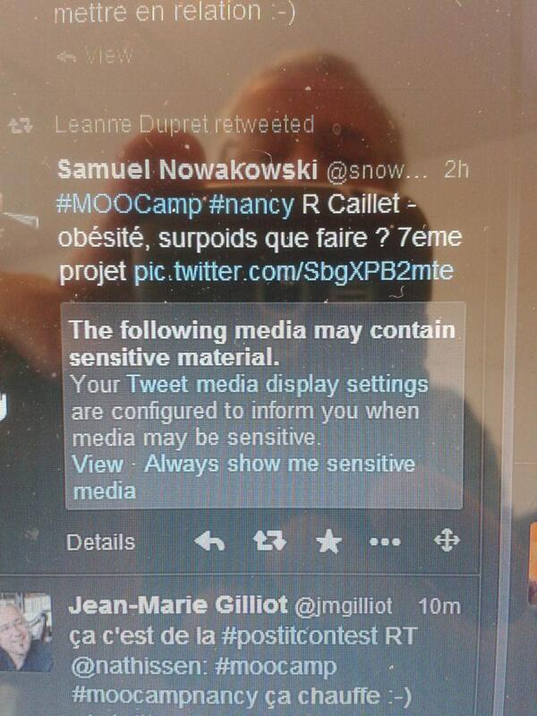 @snowakowski censuré. .. #moocamp #moocampnancy http://t.co/AZXg8u4PoM