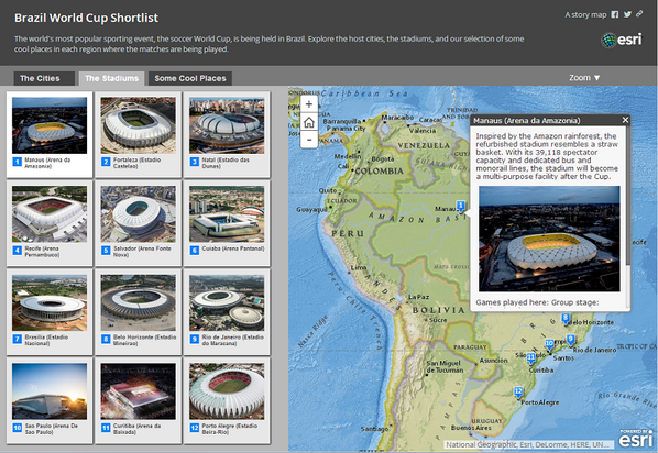 Esri story maps on twitter a brazil world cup shortlist httpt esri story maps on twitter a brazil world cup shortlist httptmruch23cjv cities stadiums coolplaces story map by esri storymap gumiabroncs Gallery