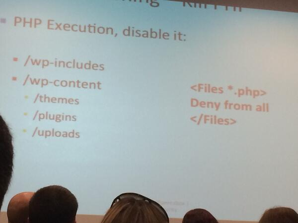 #wcchi PHP 'deny from all' is a good way to make your WP site safe. http://t.co/Ct7ggU7UIy