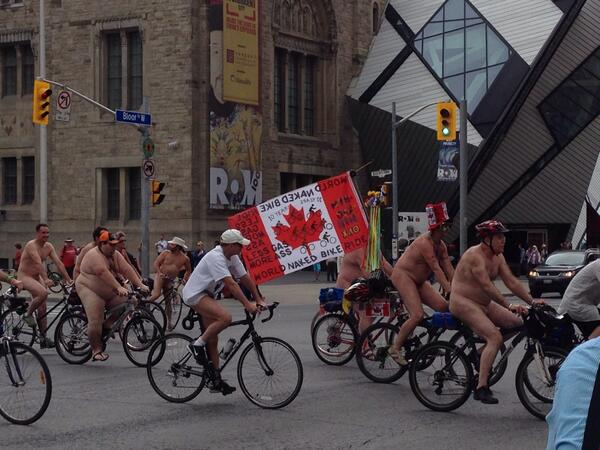 "Apparently ""World Naked Bike Ride"" is a thing. #toronto http://t.co/V89irNrdvf"