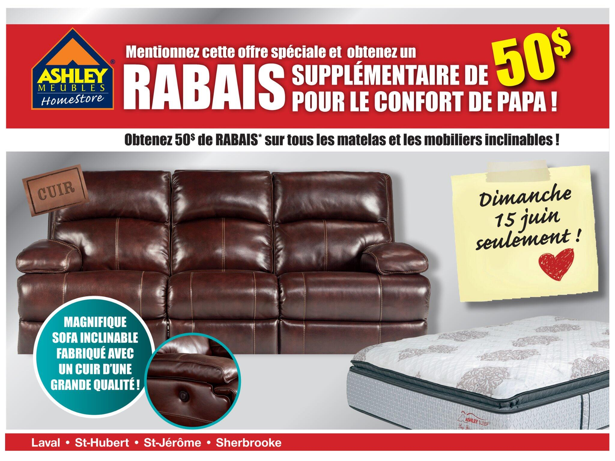 Meubles ashley meublesashley twitter for Meuble ashley prix