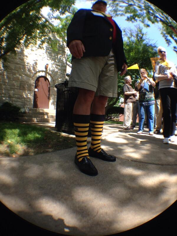 Best socks, outfit at #beloitreunion14. http://t.co/FYYMP0XmJO