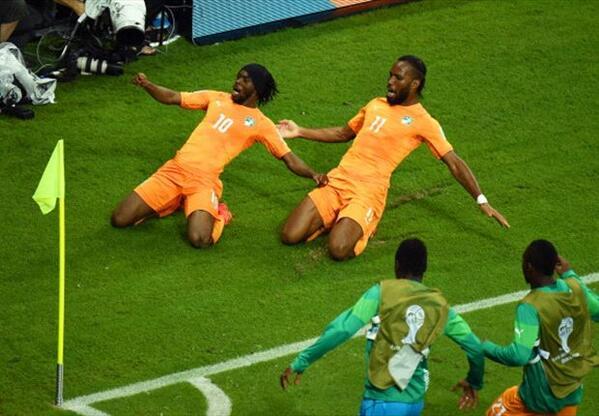 '2분 사이 2골' 코트디부아르 #CIV, 일본 #JPN 에 역전승 http://t.co/n1w4P8Fem4 http://t.co/7BG4sp26Ic