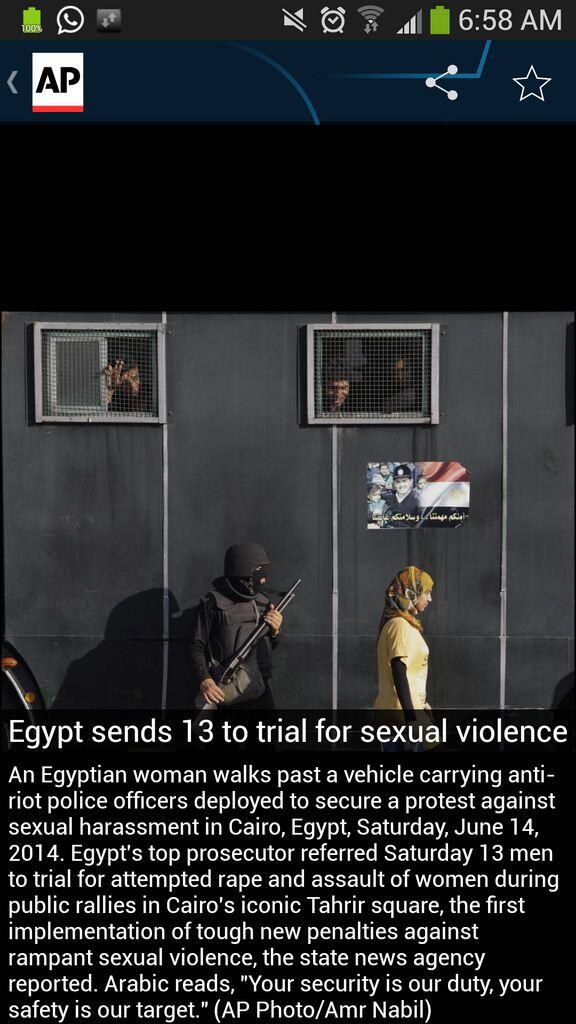 This picture by AP photographer Amr Nabil says it all. #Egypt sexual harassment of women often at hands of police http://t.co/MCR3IMqNRn