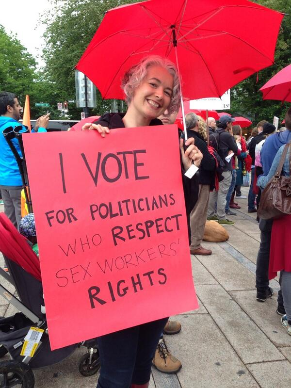 """Zena Sharman on Twitter: """"Proud to march in solidarity with sex workers at  Vancouver's Red Umbrella march. #sexwork #c36 #criminalizationkills  http://t.co/fkNnXUEYQB"""""""