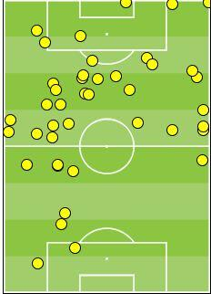 Rooney touch map. Two touches in the box for a guy with 39 international goals.. Use him properly, or drop him #ENG http://t.co/CxWQHjDhk6