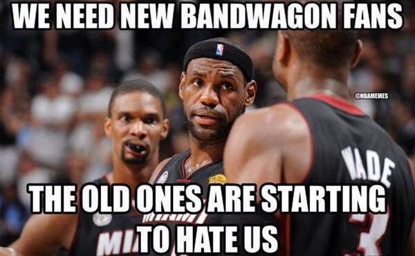 2014 NBA Finals Memes Miami Heat Bandwagon Fans
