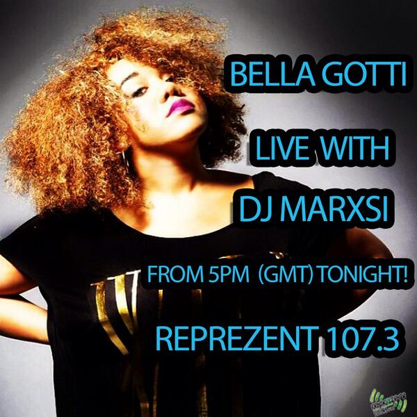 So this cutie @Ms_Bella_Gotti joins me on @ReprezentRadio today!107.3 across London & worldwide on @ukradioplayer http://t.co/rgzoGAkKLo