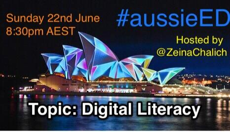 #aussieEd join us 22 Sun 8:30pm AEST  for another energising chat about all things 'digital literacy' @ACU_education http://t.co/TORp304AtI