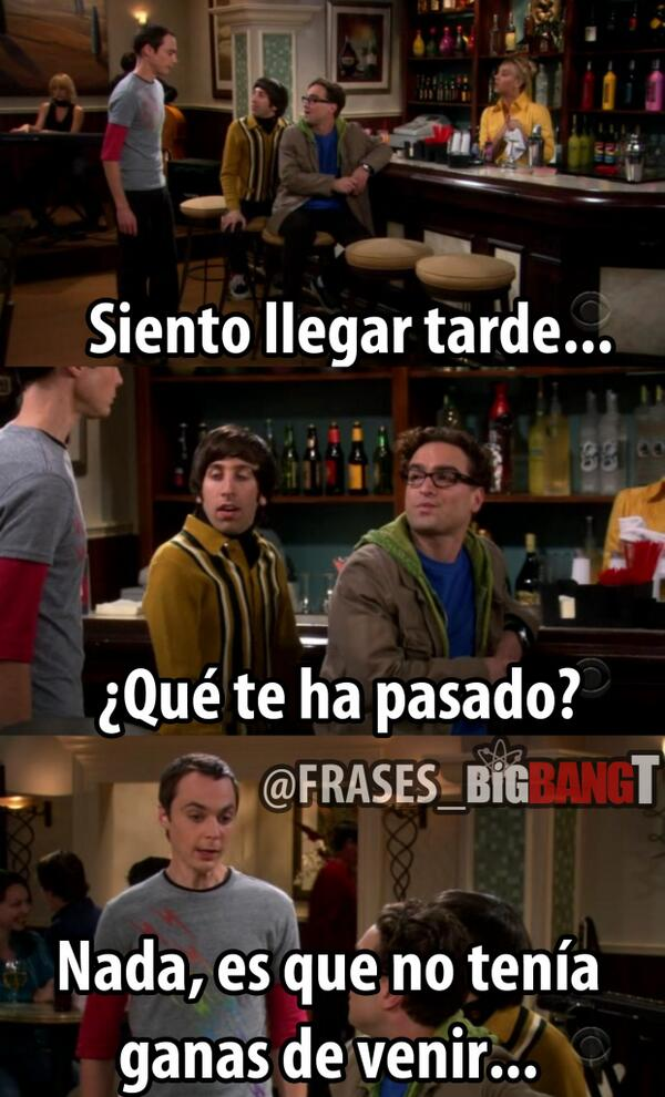 The Big Bang Theory On Twitter Es Simple