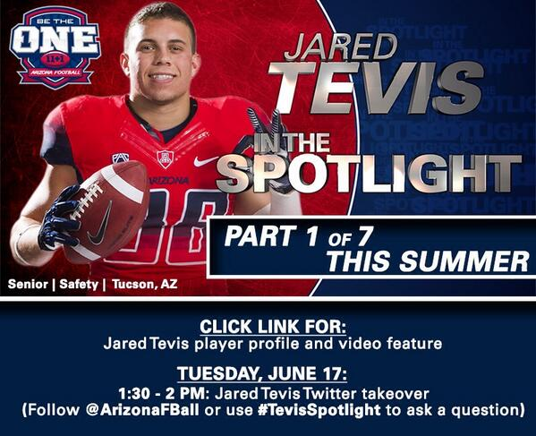 Introducing: Jared Tevis In The Spotlight. Visit http://t.co/p9FD0lZrjq for video/photos. #TevisSpotlight http://t.co/mSx38M1Y7j