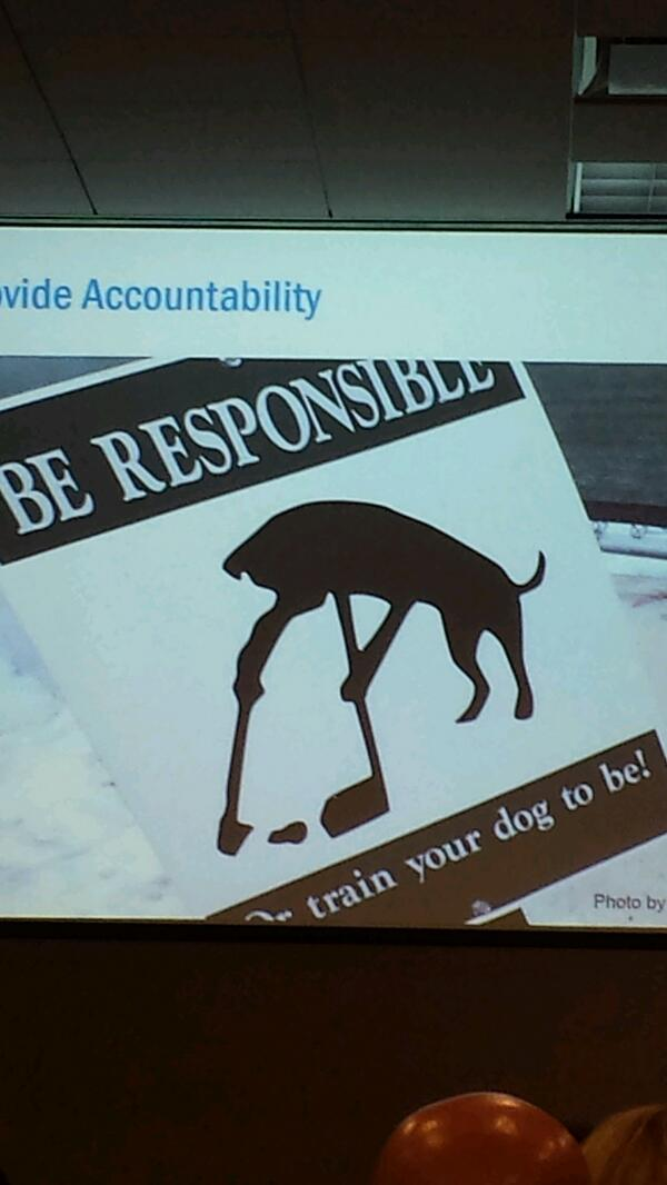 #onetimeatwordcamp there was a slide with dog poop. #wcchi http://t.co/chzWyDgZlm
