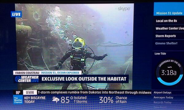 THIS was great TV RT @Mission_31: A @JenCarfagno exclusive @Mission_31 @FCousteau @MikeJenkinsTV @ReefBase #mission31 http://t.co/Xfn9lwhwqn