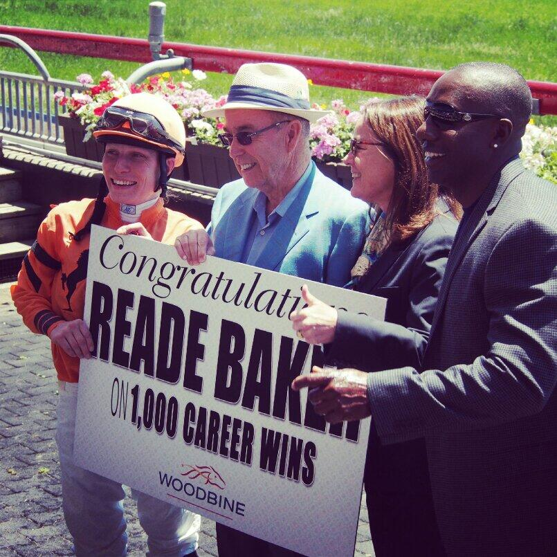 Twitter / WoodbineRacing: Reade Baker gets his 1,000th ...
