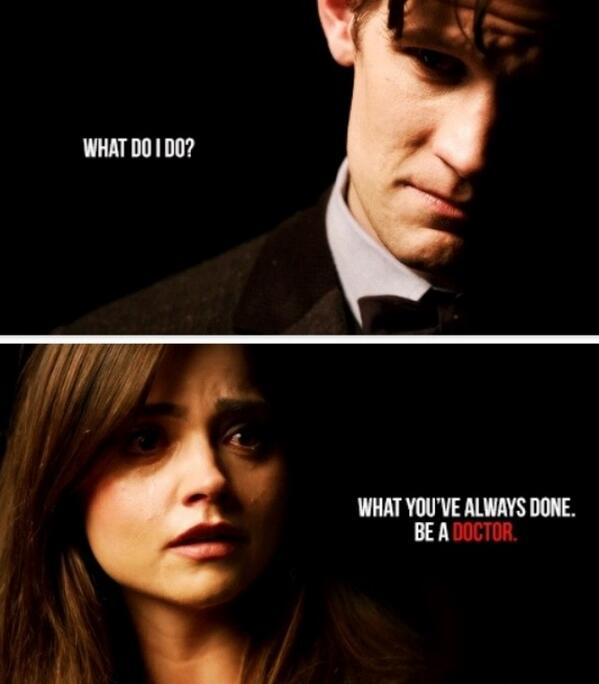 Image result for clara oswald be a doctor quote