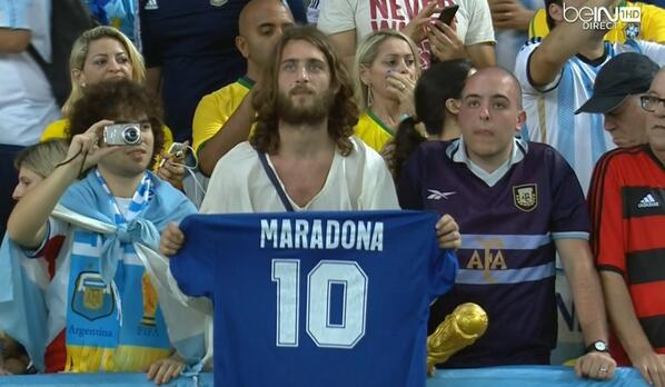 Soccer Jesus is Argentina's best World Cup fan