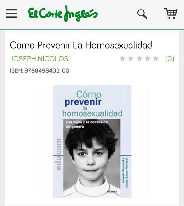 En @elcorteingles venden este libro homófobo. Esperamos que lo retiren de inmediato ¿RT? http://t.co/S9uFYCAJar