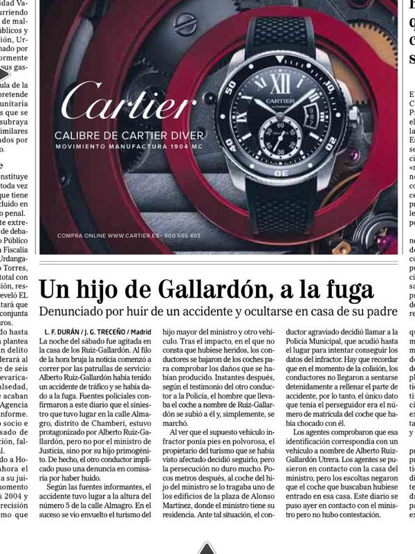 Un hijo de Gallardón, a la fuga RT @vicentelozano: ¿Qué les pasa a los del PP con el tráfico? http://t.co/Xjz4qfikBp