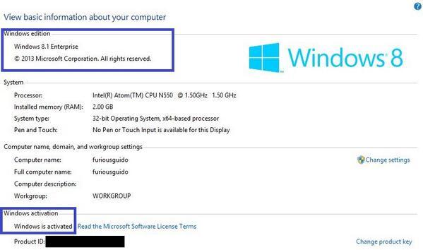 Windows 8 Enterprise X32