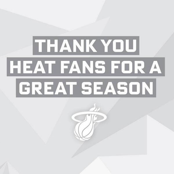 This goes out to YOU, YOU, YOU, & YOU #HEATnation, THANK YOU! I LOVE Y'ALL! LET'S GO HEAT!!! http://t.co/prx9tnkVN0