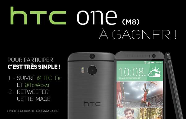 Autre concours pour gagner un #HTCOneM8 avec @TopAchat ! Tentez votre chance ici : https://t.co/0IaSADg2PT http://t.co/YosdOzWQFS