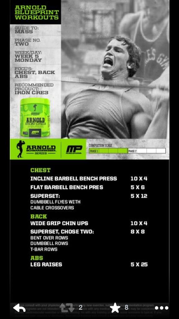 Cory gregory on twitter arnoldseries blueprint to mass workout cory gregory on twitter arnoldseries blueprint to mass workout week chest back and abs powered by ironcre3 httptcmgjvk9qfj malvernweather Images