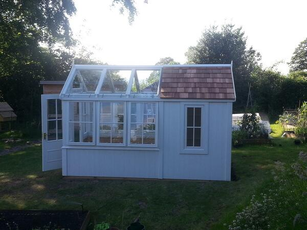 The Posh Shed Co On Twitter We Love This Design Half Greenhouse Http T Jmd1xitsqk