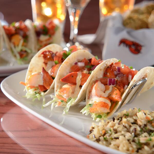 Red lobster on twitter hurry in new lobster tacos are for Fish bar manhattan beach menu