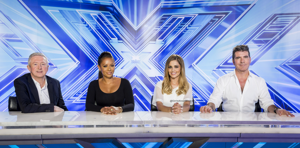 The X Factor judges inside the Manchester auditions today #xfactor2014 http://t.co/wiNCATNiaP
