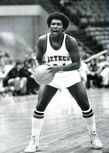 RIP Tony Gwynn. Little-known fact: Also star on SDSU's basketball team as PG (love the hair). http://t.co/5tTJ1ZB8TC