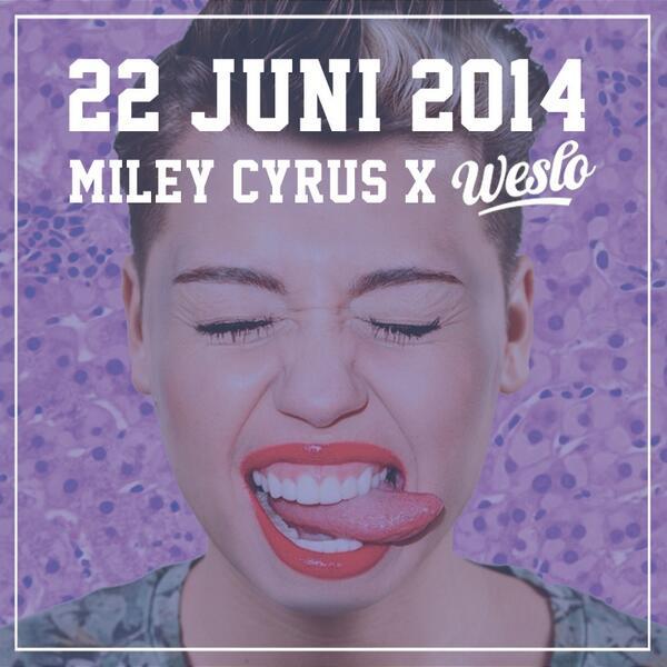 Helemaal zin in het @MileyCyrus concert zondag!