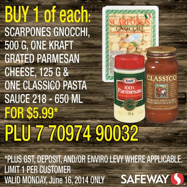 Safeway Canada On Twitter Seanpankhurst Yes The 218ml Basil Pesto Sundried Tomato Pesto Are Both Options For The Deal If You Don T Want A Pasta Sauce Enjoy