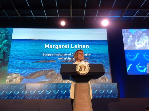 Margaret Leinen giving her Speech about Ocean floats. @1moregeneration #OurOcean2014 http://t.co/sRpG215Syg