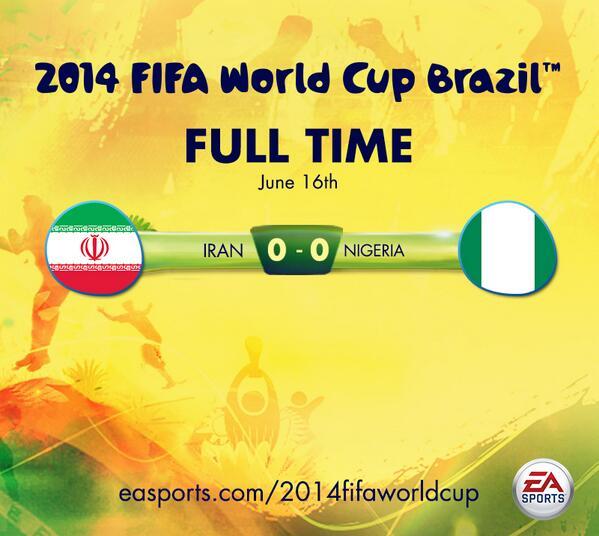 FT. #Iran 0-0 #Nigeria. http://t.co/vyWLxNDxFH