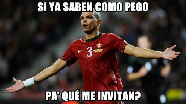 Ese Pepe se equivocó de pelota,  es explusado por cabezazo a Thomas Müller, hasta el momento  #GER 3-0 #POR http://t.co/1xks4TWnpi