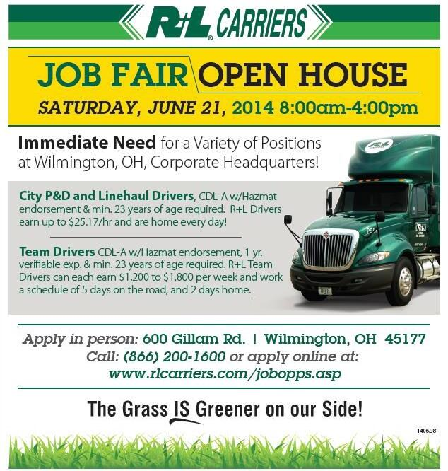 Twitter / RLCarriers: We are hosting a job fair at ...