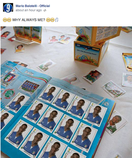Mario Balotelli with possibly the best Facebook post in football history [Picture]