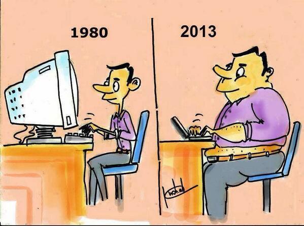 Bilgisayarın ve insanın evrimi. Kendileri küçüldü, bizi büyüttü. http://t.co/1CcVSBVdAc